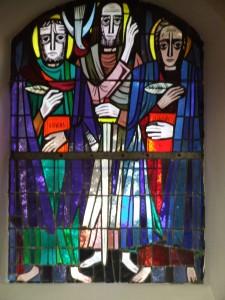Nordwand hinten: Lukas und Johannes mit Paulus